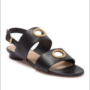 Valentino Garavani leather grommet sandals